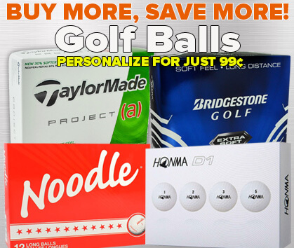 Buy More, Save MORE Golf Ball Steals - 99¢ Personalization!