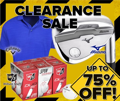 75% Off Clearance on TONS of the best Golf Gear - This Weekend ONLY - Shop Now!