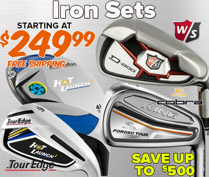 Iron Sets Starting At $249.99 - Save Up To $550!