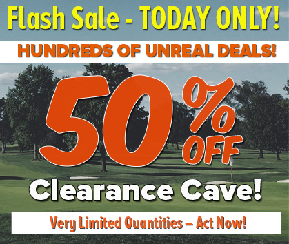 50% Off Golf Clearance Cave Sale!