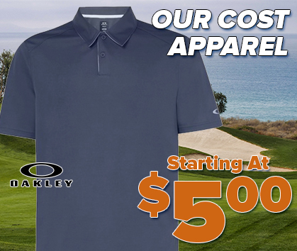 Our Cost Apparel Sale - Starting at $5.00! Save up to $100! Shop Now!