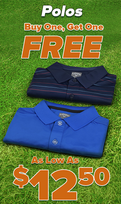 Buy One Get One BOGO Polos! As Low As $12.50 Each! Shop Now!