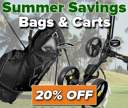 Summer Savings! 20% Off Golf Bags and Golf Carts! - Shop Now!