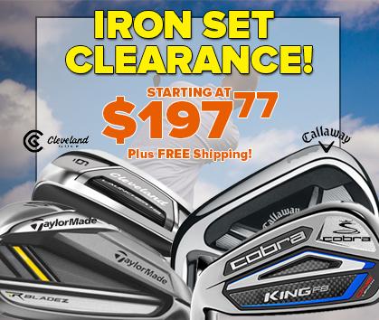 Iron Set CLEARANCE Sale!