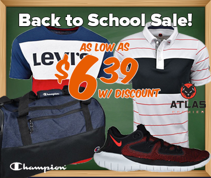 Back To School Sale - As Low As $7.99!