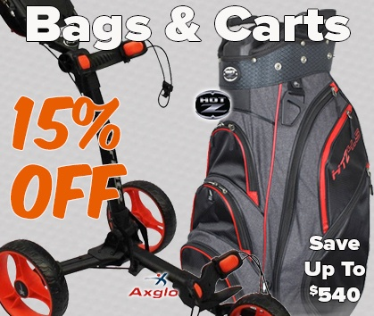 15% OFF Golf Bags & Carts - Shop NOW!
