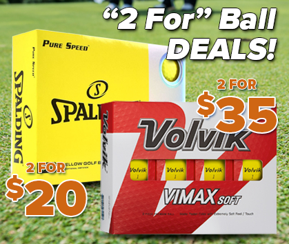 2 For Golf Balls! Stock Up And Save! Shop Now!