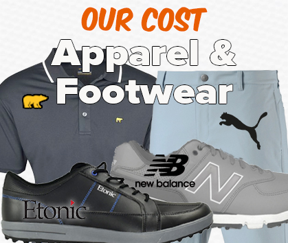 Our Cost Apparel & Footwear - Save HUGE!