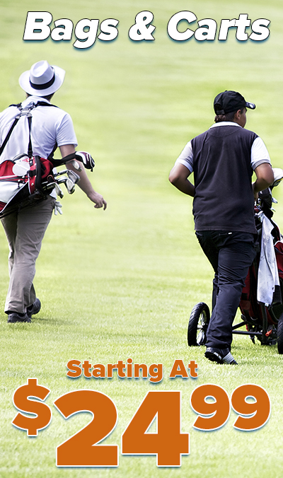 Golf Bags and Golf Carts For LESS! Golf Carts and Bags Starting At $24.99! Shop Now!