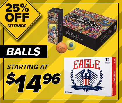 25% Off Golf Ball Clearance! Shop Now!