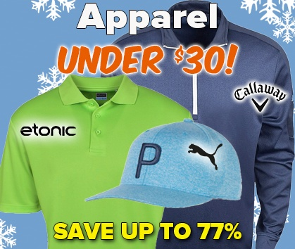 Apparel Under $30! Save Up To 80%- Shop Now!