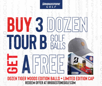 Buy 3 Doz Bridgestone Tour B Series Balls, Get 1 Doz Tiger Woods Edition Balls & Cap FREE!