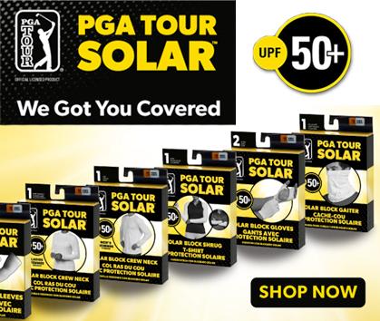 PGA Tour Solar! We Got You Covered! Shop Now!