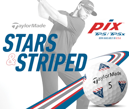 TaylorMade Golf TP5 and TP5x PIX Golf Balls! Stars and Stiped! Shop Now!