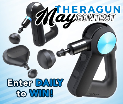 Theragun May Contest Giveaway! Enter DAILY To Win! Enter Now!