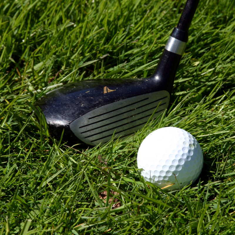 Fairway Wood and Golf Ball on the Fairway