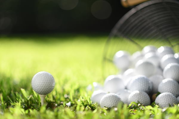 Used Golf Balls on the tee