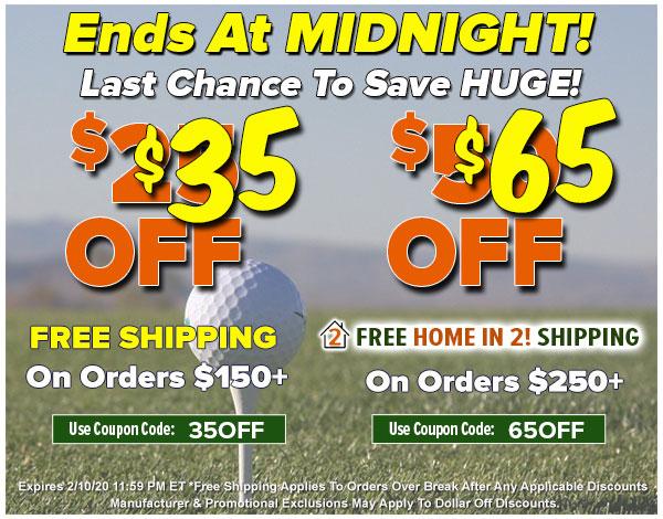Buy More, SAVE MORE at Rock Bottom Golf!