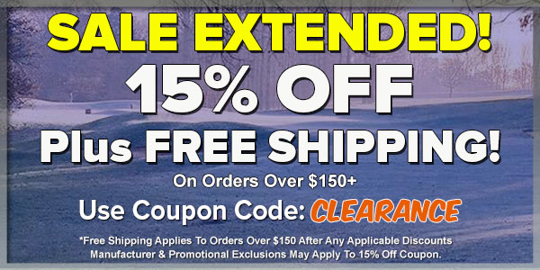 15% OFF Plus FREE Shipping For Our Winter Clearance Sale!