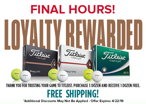 Titleist Pro V1 and Pro V1x Loyalty Rewarded!