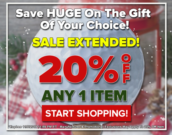 20% Off ANY Single Item! Today ONLY!