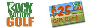 FREE $25 RockBottomGolf.com Gift Card w/ Select Cart Purchase!