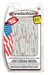 PrideSports Golf- American Flag Evolution Golf Tees (30 Pack)
