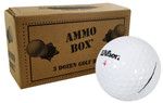 Wilson Mix Mint Used Recycled Golf Balls *36-Ball Ammo Box*