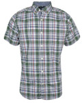 Nautica- Short Sleeve Poplin Plaid Woven Shirt