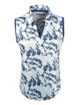 Etonic Golf- Ladies Printed Split Placket Sleeveless Polo