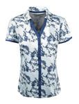Etonic Golf- Ladies Printed Short Sleeve Button Polo