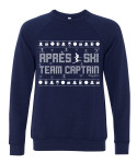 SwingJuice Golf- Apres Ski Team Captain Long Sleeve Sweatshirt Ugly Sweater