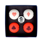 Volvik Lucky Pack with Hat Clip Ball Marker [4-Pack]