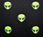 Alien Golf- Alien Heads Allover Print Polo