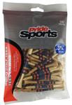 "PrideSports Golf- 3 1/4"" Striped Wood Tees (50 Pack)"