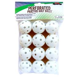 PrideSports Golf- Perforated Practice Balls (12 Balls)