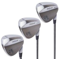 GoSports Golf Tour Pro Satin Finish 3-Wedge Set