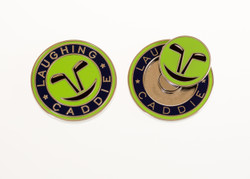 Laughing Caddie Golf- Two Sided Ball Marker w/ Removable Magnet