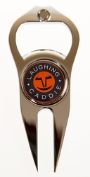 Laughing Caddie Golf- Divot Repair Tool w/ Removable Marker & Bottle Opener
