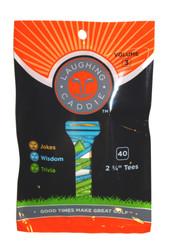 "Laughing Caddie Golf- 2 3/4"" Wooden Tees (40 Pack)"
