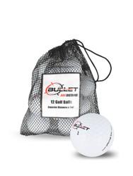 Bullet .444 Distance Golf Balls [12-Ball] LOGO ONLY