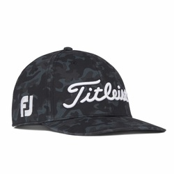 Titleist Golf- Black Camo Tour Cotton Semi Curve Hat