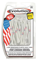 PrideSports Golf- American Flag Evolution Golf Tees (30 Pack)