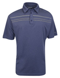 Etonic Golf- Heather Chest Stripe Polo