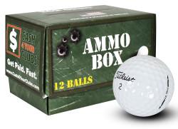 Titleist Pro V1 Mint Refinished Used Golf Balls *12-Ball Ammo Box*