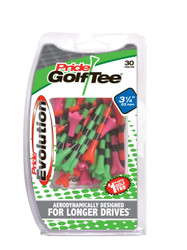 PrideSports Golf- Striped Evolution Tees (30 Pack)