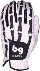 Bender Gloves- MLH Mesh Golf Glove White Bones