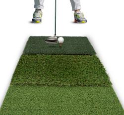 Rukket Golf Mat Attack Tri-Turf Hitting Mat