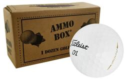 Titleist Stock Overrun Golf Balls *12-Ball Ammo Box*
