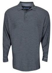 Etonic Golf- Long Sleeve Space Dye Polo